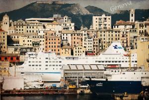 La vieille ville et le port de Genova